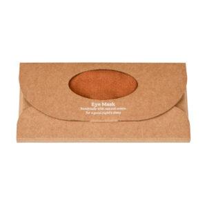 Copper Luxe Linen Eye Mask in a box