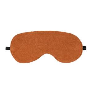 Copper Luxe Linen Eye Mask