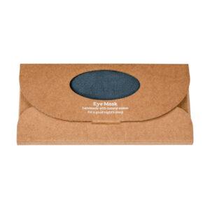 Slate Luxe Linen Eye Mask in a box