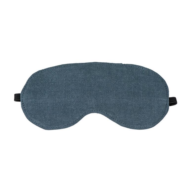 Slate Luxe Linen Eye Mask
