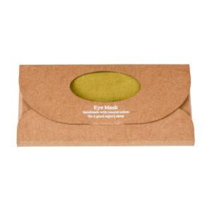 Pistachio Luxe Linen Eye Mask in a box