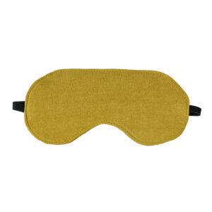 Pistachio Luxe Linen Eye Mask